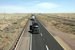 Highway trucks royalty free stock photo