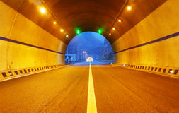 Highway and tunnel Royalty Free Stock Image