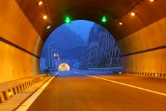 Highway and tunnel Stock Photo