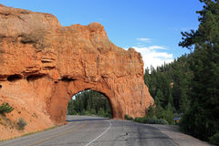Highway tunnel in Red Canyon Stock Photos