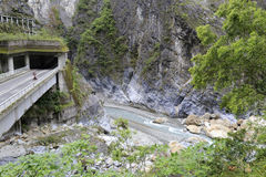 The highway and tunnel of taroko gorge, taiwan Royalty Free Stock Photos