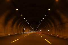 Highway tunnels highways. Transport and transportation royalty free stock images
