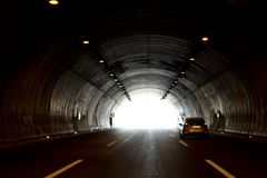 Highway tunnels highways. Transport and transportation royalty free stock photography