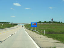 Highway 412 Turnpike north central Oklahoma Royalty Free Stock Images