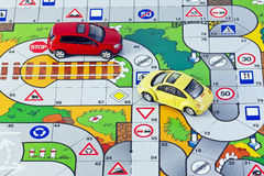 Highway and two cars Royalty Free Stock Images