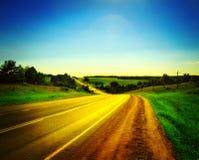 Highway under blue sky. Highway under clean blue sky Stock Photography