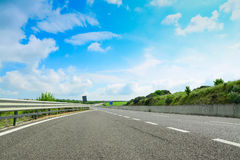 Highway under a cloudy sky in Sardinia Royalty Free Stock Photos