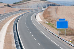 Highway under construction. New highway under construction, Spain Stock Images