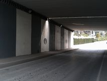 Highway Underpass Beyoglu Istanbul. Highway Underpass Sishane Beyoglu Istanbul Royalty Free Stock Images
