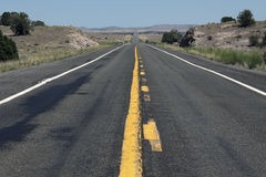 Highway in USA. Rural highway in western USA stock image