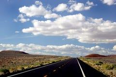 Highway in Utah. Cloudy desert highway in Utah Royalty Free Stock Image