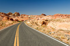 Highway through Valley of Fire Stock Images