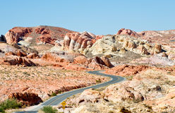 Highway in Valley of Fire Stock Photos