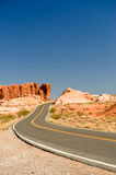 Highway through Valley of Fire Royalty Free Stock Image