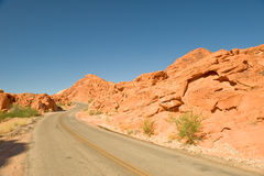Highway through Valley of Fire Royalty Free Stock Photography