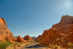 Highway through Valley of Fire Royalty Free Stock Photo