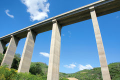 Highway viaduct Royalty Free Stock Photo