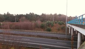 A highway in Nunspeet Royalty Free Stock Photos