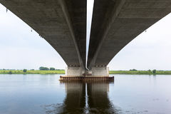 Highway viaduct over Vistula river Stock Photo