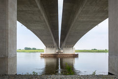 Highway viaduct over Vistula river Royalty Free Stock Photography