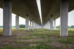 Highway viaduct over Vistula river Royalty Free Stock Photo