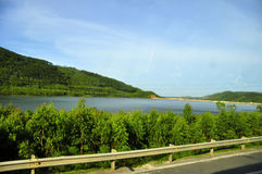 Highway 1 Vietnam. On the north-south road linking Vietnam , serene poetic landscape Stock Images