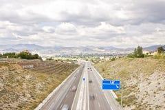 Highway view Stock Photos
