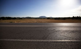 Highway -view Across The Image Royalty Free Stock Image