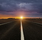 Road to Sunset Royalty Free Stock Images