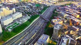 Highway view from the tower.  stock video footage