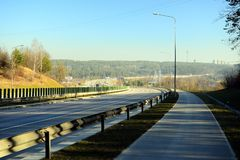 Highway from Vilnius to Kaunas city is most used Royalty Free Stock Photos