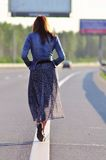 Highway walking Royalty Free Stock Photography