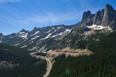 Highway 20, Washington State in July Royalty Free Stock Photo
