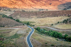 Highway and water supply canal Royalty Free Stock Photos