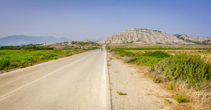 Highway on the west side on the Rhodes island Stock Images