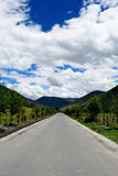 Highway in Western Sichuan Plateau. A section of Sichuan-Tibet highway in Western Sichuan Plateau Stock Photos