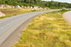 Highway with a wide divider Royalty Free Stock Image