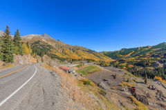 Highway Winding Through the Colorado Fall Landscape Royalty Free Stock Photography