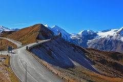 The highway winds between hillsides Royalty Free Stock Image