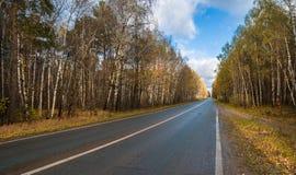 Free Highway With The Wood Around, An Autumn Season Stock Photo - 148240660