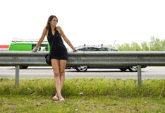 Highway woman Stock Photography