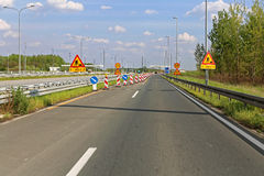 Highway Works Royalty Free Stock Photos