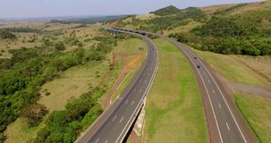Highway worldwide, highway Castelo Branco, Sao Paulo South America Brazil stock video footage