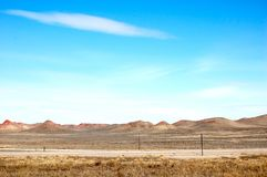 Highway To The West In Wyoming royalty free stock photography