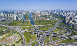 Highway zhengzhou china. Highway overlooking zhengzhou henan china Royalty Free Stock Photos