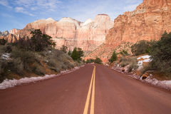 Highway 9 Zion Park Blvd Road Buttes Altar of Sacrifice Stock Images