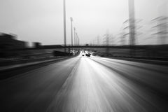 Highway zoom Royalty Free Stock Photos