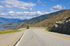Highwayl view of Osoyoos Wine Valley Stock Image