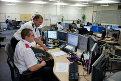 Highways Agency Motorway Control Room royalty free stock photos