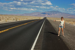 Highways in Arizona, USA. Highways in Arizona APuteshestvie hitchhiking journey across America, Road America, Route 66 Royalty Free Stock Photos